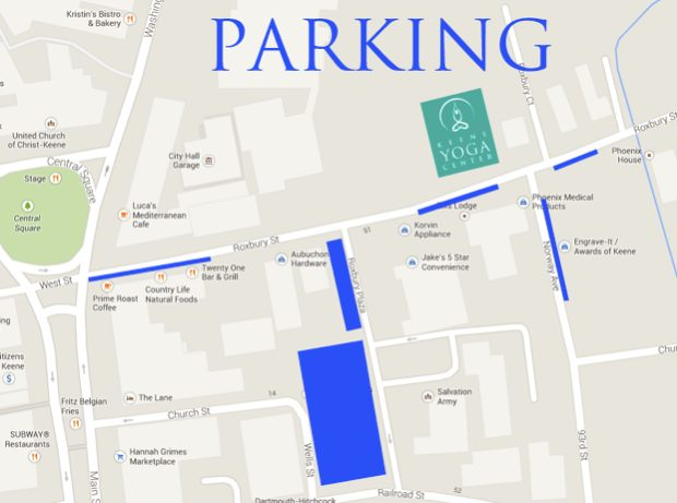 Parking At Keene Yoga Center