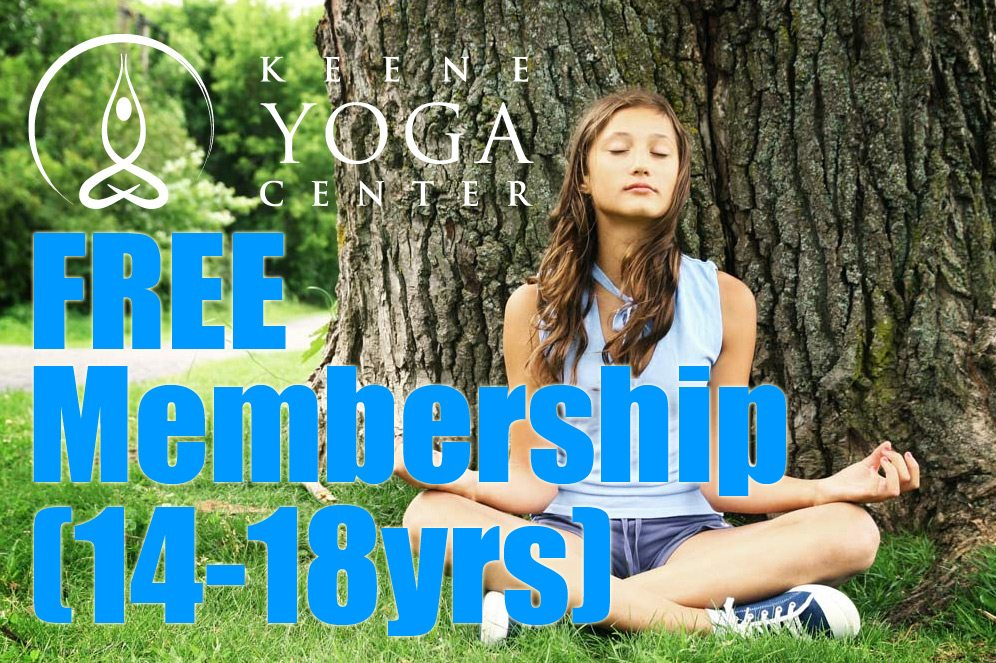 Free Youth Memberships At Keene Yoga Center